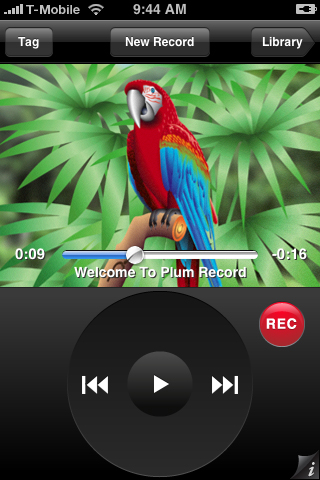 Plum Amazing's Plum Record software for iPhone