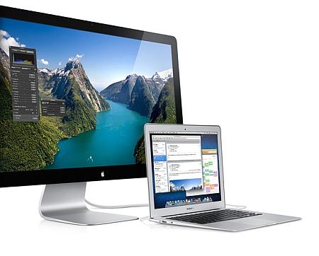 Apple Thunderbolt display w laptop